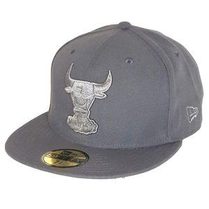 Chicago Bulls Graphite Grey Monochrome Fitted Hat
